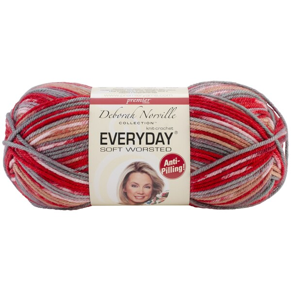 Deborah Norville Collection Everyday Print Yarn-Red Rocks
