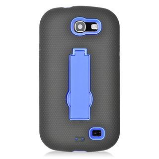 Insten Soft Silicone/ PC Dual Layer Hybrid Rubber Case Cover with Stand For Samsung Galaxy Express SGH-i437