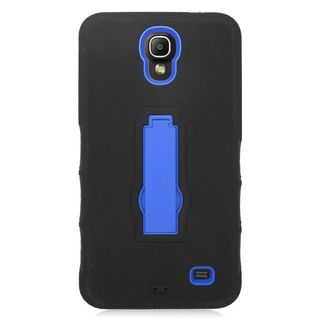 Insten Soft Silicone/ PC Dual Layer Hybrid Rubber Case Cover with Stand For Samsung Galaxy Mega 2
