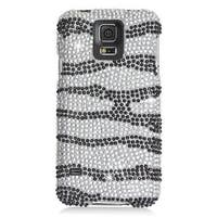 Insten Hard Snap-on Rhinestone Bling Case Cover For Samsung Galaxy S5 SM-G900