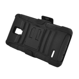 Insten Hard PC/ Silicone Dual Layer Hybrid Case Cover with Stand/ Holster For LG Optimus L9 P769