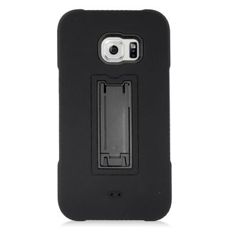 Insten Soft Silicone/ PC Dual Layer Hybrid Rubber Case Cover with Stand For Samsung Galaxy S6 Edge Plus