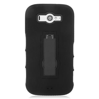 Insten Soft Silicone/ PC Dual Layer Hybrid Rubber Case Cover with Stand For ZTE Imperial II