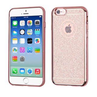 Insten Rose Gold Glittering TPU Rubber Candy Skin Glitter Case Cover For Apple iPhone 6/ 6s