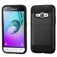 Insten Hard PC/ Silicone Dual Layer Hybrid Rubberized Matte Case Cover For Samsung Galaxy Amp 2/ J1(2016)
