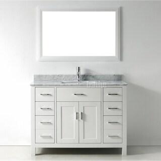Shop 48 Inch Belvedere Modern Freestanding White Bathroom Vanity