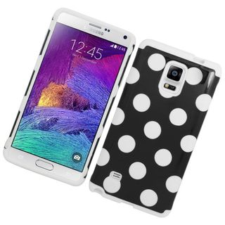 Insten Hard PC/ Silicone Dual Layer Hybrid Rubberized Matte Case Cover For Samsung Galaxy Note 4 (Option: Beige)