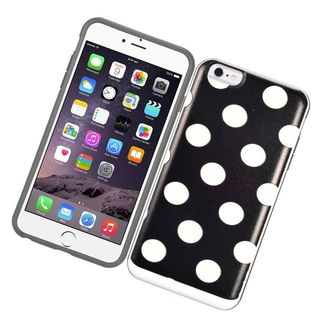Insten Hard PC/ Silicone Dual Layer Hybrid Rubberized Matte Case Cover with Card Slot For Apple iPhone 6 Plus/ 6s Plus