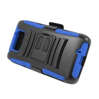 Insten Hard PC/ Silicone Dual Layer Hybrid Case Cover with Stand/ Holster For Motorola Droid Maxx XT1080M (Verizon)