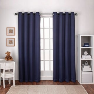 ATI Home Woven Thermal Woven Blackout Grommet Top Curtain Panel Pair