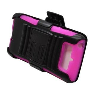 Insten Hard PC/ Silicone Dual Layer Hybrid Case Cover with Stand/ Holster For Motorola Droid Mini