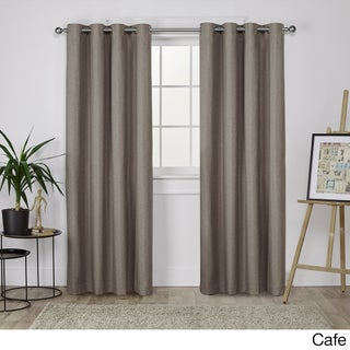 Oliver & James LeWitt Thermal Textured Linen Grommet Top Curtain Panel Pair (More options available)