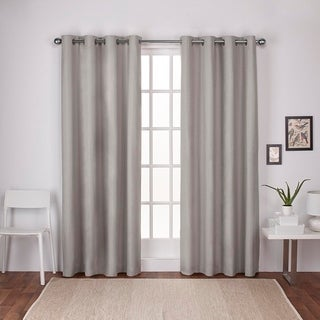 Exclusive Home London Thermal Textured Linen Grommet Top Window Curtain Panel Pair