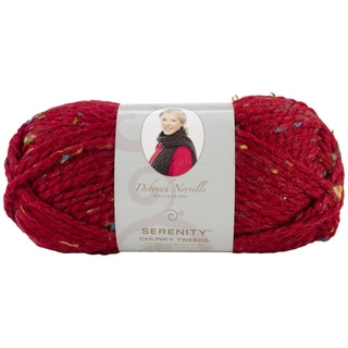 Deborah Norville Collection Serenity Chunky Tweed Yarn-Claret
