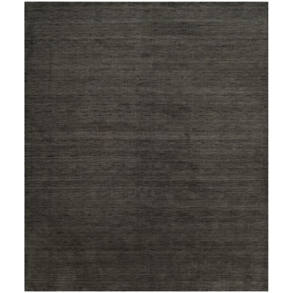 safavieh hand-woven himalaya charcoal wool rug (4' x 6') - free