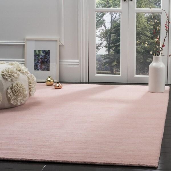 Safavieh Hand-Woven Himalaya Light Pink Wool Rug