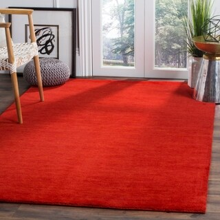 Safavieh Hand-Woven Himalaya Red Wool Rug (5' x 8')