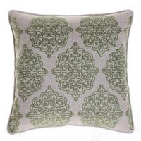 Charlotte Damask Linen Stitch Decorative Throw Pillow 18 x 18 inches