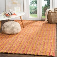 Safavieh Natural Fiber Contemporary Handmade Rust / Natural Jute Rug - 6' x 9'