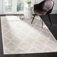 Safavieh Amherst Indoor / Outdoor Light Grey / Beige Rug - 9' X 12'