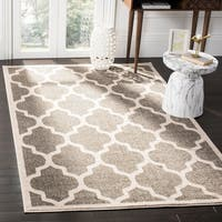Safavieh Amherst Indoor / Outdoor Dark Grey / Beige Rug - 9' x 12'