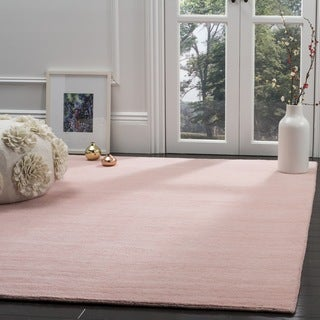 Safavieh Hand-Woven Himalaya Light Pink Wool Rug (8' x 10')