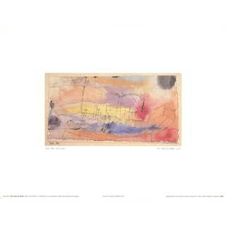 Paul Klee 'The Fish in the Harbor' 1997 12 x 16 inch Poster