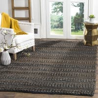 Safavieh Natural Fiber Contemporary Handmade Charcoal Jute Rug (9' x 12')