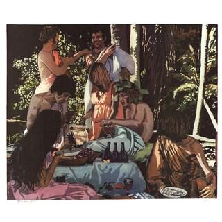 John Clem Clarke-Bacchanal' 1972 22-inch x 26-inch Signed Lithograph