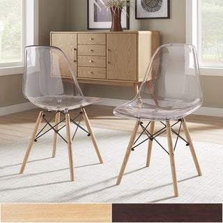 Alvar Clear Seat Dining Chairs (Set Of 2) INSPIRE Q Modern