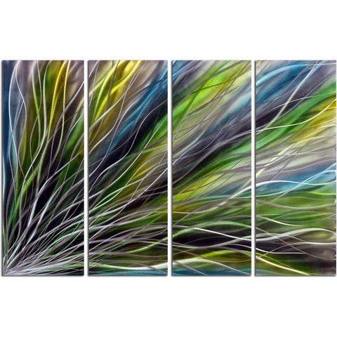 'Spring Flares' Handmade Metal Wall Art Sculpture (Pack of 4)