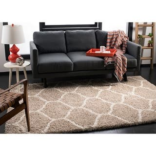 shaggy rugs for living room. Safavieh Hudson Moroccan Ogee Beige  Ivory Shag Rug 8 x Rugs Area For Less Overstock com