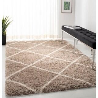 Safavieh Hudson Beige / Ivory Shag Rug (8' x 10')