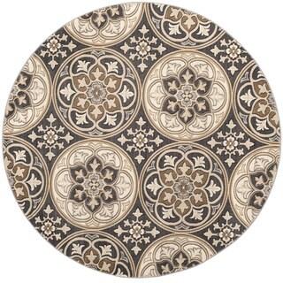 Safavieh Lyndhurst Traditional Light Grey / Beige Rug (8' Round)
