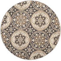 Safavieh Lyndhurst Traditional Light Grey / Beige Rug - 8' Round