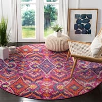 Safavieh Madison Bohemian Fuchsia/ Multi Area Rug - 6'7 Round