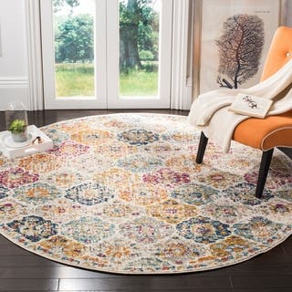 Safavieh Madison Bohemian Vintage Cream/ Multi Distressed Area Rug (6'7 Round)|https://ak1.ostkcdn.com/images/products/14644934/P21183686.jpg?impolicy=medium