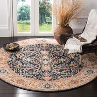 Safavieh Madison Oriental Navy/ Cream Area Rug (6'7 Round)