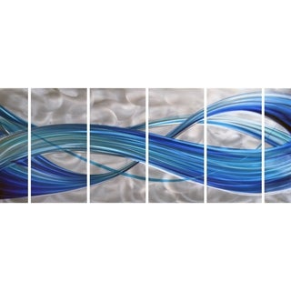 Omax Decor Blue Stream Journey Handmade Metal Wall Art Sculpture (Set of 6)