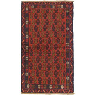 ecarpetgallery Hand-Knotted Herati Red  Wool Rug (3'4 x 5'10)
