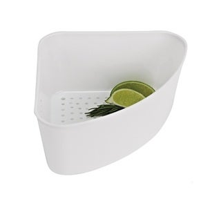 White Corner Sink Strainer
