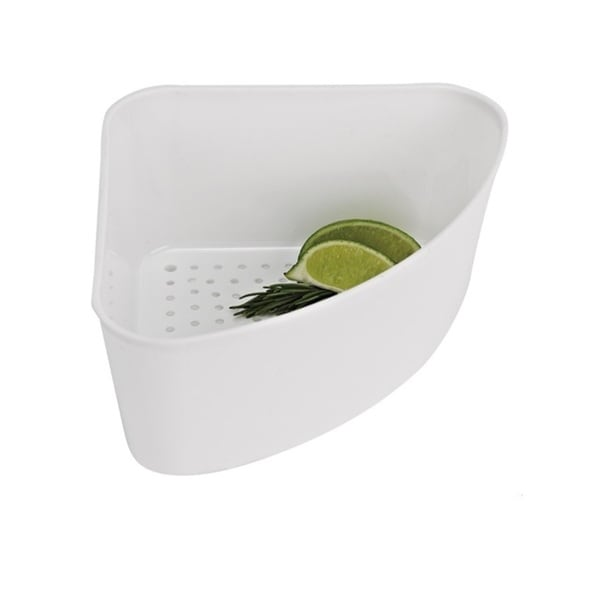 Shop White Corner Sink Strainer Free Shipping On Orders