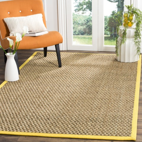 Safavieh Natural Fiber Marina Natural/ Gold Seagrass Rug - 6' x 6' Square