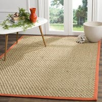 Safavieh Natural Fiber Natural / Rust Rug - 6' Square