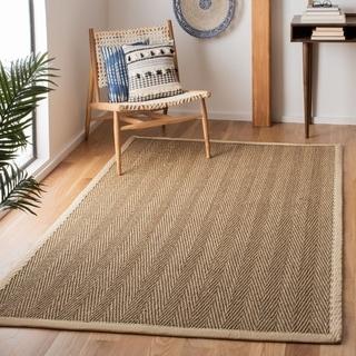 Safavieh Natural Fiber Natural / Ivory Rug (6' Square)