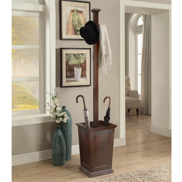 Shop Briarwood Home Decor Wood Coat Rack With Umbrella Stand On
