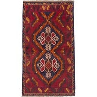 ECARPETGALLERY Hand-Knotted Kazak Red  Wool Rug (3'6 x 6'1)
