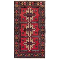 ecarpetgallery Hand-Knotted Bahor Red  Wool Rug (3'6 x 6'3)