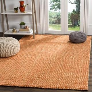 Safavieh Natural Fiber Contemporary Handmade Rust / Natural Jute Rug (6' Square)
