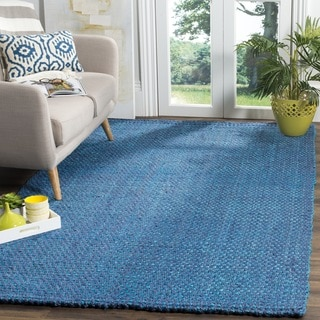 Safavieh Natural Fiber Contemporary Handmade Blue Jute Rug (6' Square)